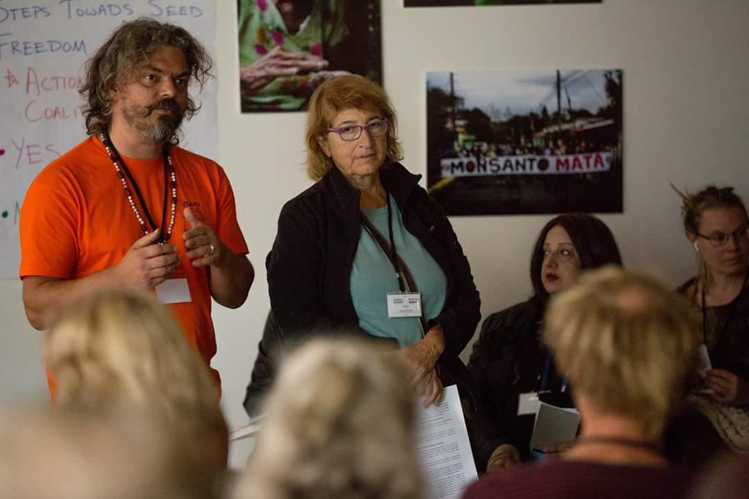 Panagiotis Sainatoudis and Vasso Kanellopolou, Peliti, Greece (Photo by Monsanto Tribunal)