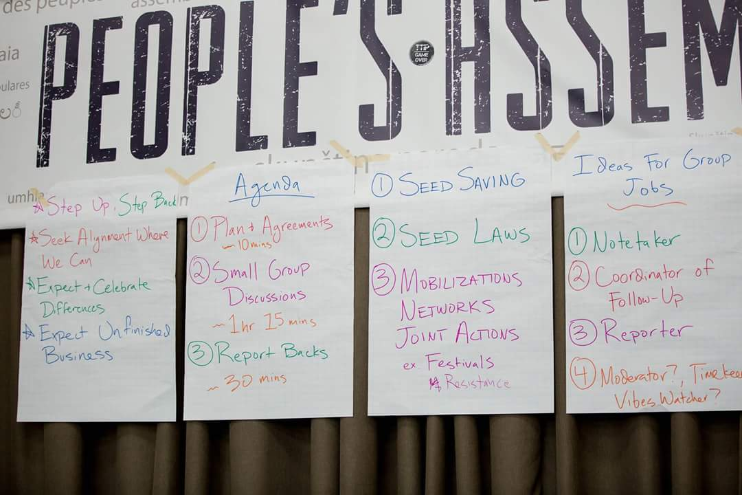 Reports from workshops (Photo by Monsanto Tribunal)